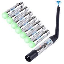 CHINLY 8pcs 2,4 G ISM DMX512 Männlich/Weiblichen XLR Sender/Empfänger für Moving Heads Bühne Licht (SR5540EU)