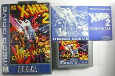 X-Men 2 Clone Wars RARE Sega Megadrive SILVER