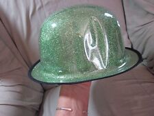 Green Glitter Party Hat Lot of 8 Adult Sized Derby Saint Patrick's Day Decor New