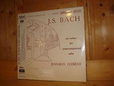 SEALED Bach Six Cello Suites JEAN-MAX CLEMENT L´OISEAU-LYRE 2 LP SOL 60016/7 NEW