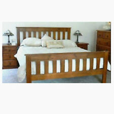 BANKSIA KING SINGLE TIMBER BED FRAME WITH MATCHING FOOT IN BLACKWOOD