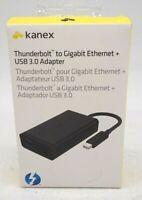 Kanex KTU20 Thunderbolt To Gigabit Ethernet + USB 3.0 Adapter