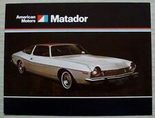 AMERICAN MOTORS AMC MATADOR USA Car Sales Brochure 1974 #AMX 7404