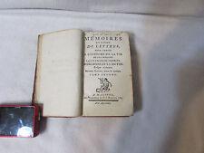 Memoires en Forme de Lettres Pour Servir by D'orleans de la Motte 1785 (A-2)