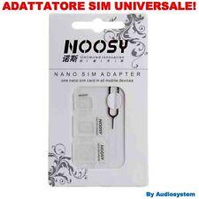 ADATTATORE UNIVERSALE SIM SCHEDA NOOSY® PER MICRO NANO STANDARD TABLET CELLULARE