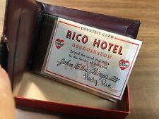 Rico BNOS Vintage Wallet Genuine Cowhide Leather Brown Original Box Paperwork