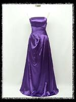 dress190 PURPLE STRAPLESS LONG FULL LENGTH MAXI PARTY PROM EVENING GOWN DRESS UK