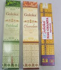 Bulk Lot  Goloka Nag Champa / Patchouli / Chandan Incense Stick 3 x 15 gm 45 Lot