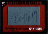 WWE Rey Mysterio 619 Judgment Day 2009 Topps Authentic Autograph Mat Relic Card