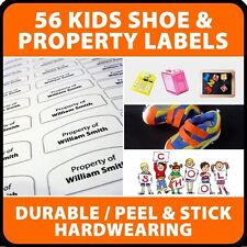56 BACK TO SCHOOL NAME LABEL PACK - SHOE, PEEL & STICK