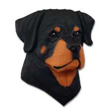 Rottweiler Head Plaque Figurine