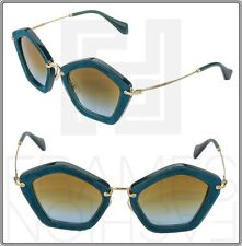 MIU MIU CULTE 06O Turquoise Suede Green Tobacco Anise Sunglasses NAO-1F0 MU06OS