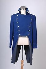 Musical Les Miserables Norm Lewis Javert Blue Jacket Trench Cosplay Costume