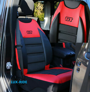 FORD FIESTA MK6 MK7 MK8 ONE FRONT SEAT COVER MAT ARTIFICIAL LEATHER & FABRIC