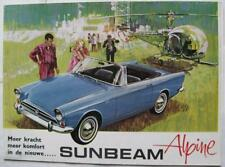 SUNBEAM Alpine Series V 1725cc Car Sales Brochure c1966 #R6651 D Flemish Text