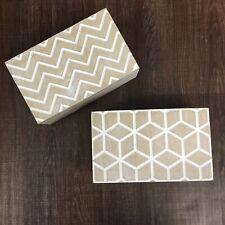 Gisela Graham Geo Washed Wooden Keepsake Boxes Set of 2 19 x 11.5cm x 8cm Gift