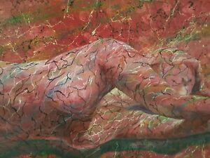 Original Oil Painting R C Bailey Surrealist 1992 Canvas Signed