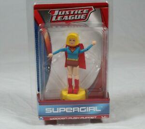 Justice League Supergirl DC Wooden Push Puppet Age 14+
