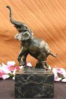 Art Deco Wildlife elephant by Milo Bronze Hot Cast Sculpture Statue Figurine Art