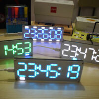 6-Digit LED Large Screen Digital Tube Clock Kit Touch Control time display tool