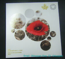 2015 Canada Remembrance Collector's Coin Card Holder Folder Poppy Flanders set
