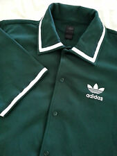 Adidas Men's Short Sleeve Celtics Green Pearl Snap Shirt Size Large L Euc