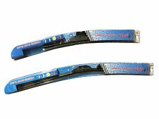 "2x 19"" inch Premium WIPER BLADES J-Hook SUMMER WINTER BRACKETLESS WINDSHIELD OEM"