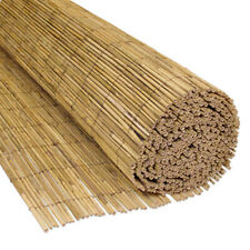 More details for 4m natural peeled reed bamboo screening outdoor garden fence fencing wide panel