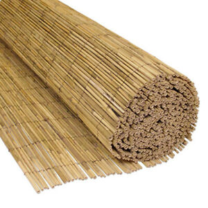 4m Natural Peeled Reed Bamboo Screening Outdoor Garden Fence Fencing Wide Panel