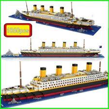 Gift 1860pcs Titanic Cruise Ship Building Bricks Blocks Sets 3D Lego Boat Diamo