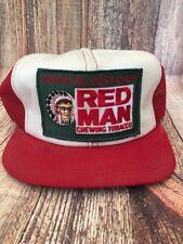 Vintage Mesh Trucker Hat Cap America's Best Chew REDMAN Chewing Tabacco SnapBack