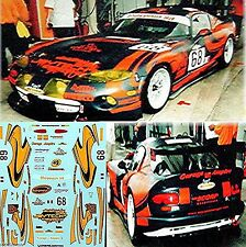 Dodge Viper GTS Coupe Scorp Racing LeMans 2003 1:24 Decal Abziehbilder