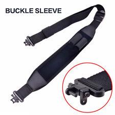 Adjustable Neoprene Rifle Shotgun Sling W/Quick Detach Swivels Belt Sling Black