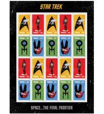 Brand new - USPS Forever Stamps - Star Trek 1 sheet of 20