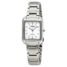 Citizen Silhouette White Dial Ladies Steel Watch EM0490-59A