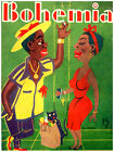 """11x14""""Poster on CANVAS Poster.Room art.Bohemia cover.Black couple talks.6878"""