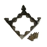 4 X Antik Metallecken Kofferecken Schutz Kantenschutz Schmuckecken Buchecken Set