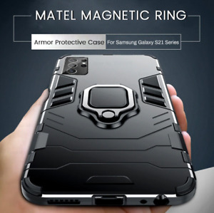 Case For Samsung Galaxy S21 S20 S10+ Magnetic Ring Stand Shockproof Armor Cover