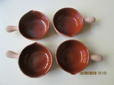 New listing Vallauris Provence Terracotta French Onion Soup Bowls Made in France Size 40