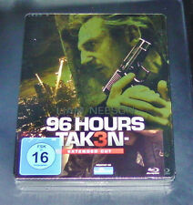 96 HOURS TAKEN 3 EXTENDED CUT WITH LIAM NEESON STEELBOOK BLU RAY NEW & VINTAGE