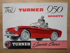 TURNER 950 SPORTS CAR orig 1958-62 UK Mkt Sales Brochure - Austin A35 power