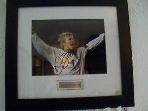 framed david beckham signed photo