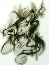 Howling Wolf Head Vinyl Car Decal Sticker (size 10x13.4cm )