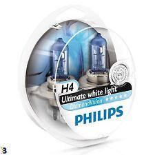 2x H4 PHILIPS DiamondVision White Headlight Bulb 12V 5000K 12342DVS2