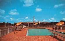 Meridian Mississippi Nelva Courts Pool View Vintage Postcard K73386