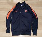 Nike FC Barcelona Boys Jacket Tracksuit Top Football Size LB - Navy Orange
