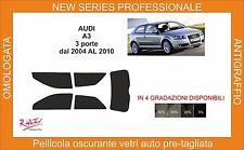 pellicola oscurante vetri pre-tagliata Audi A3 3 porte dal 2004 al 2010 comp