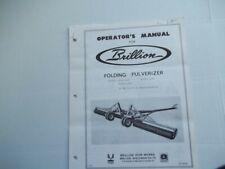 Brillion Operators Manual Folding Pulverizer Wpw Wpwc Wpwh 128
