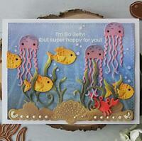 Ozean Tier Metall Stencil Cutting Dies Scrapbooking Stanzschablone Tagebuch DIY