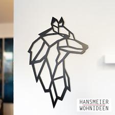 Hansmeier   Wanddeko aus Metall   38 x 55 cm   Wolf   Deko Industrial